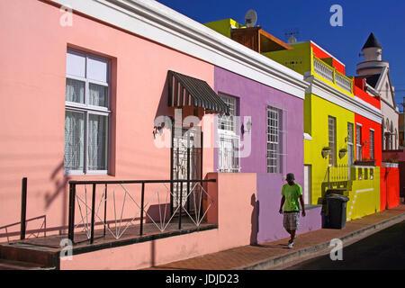 South Africa, Capetown, Bo Kaap, Bo-Kaap, Suedafrika, Kapstadt - Stock Photo