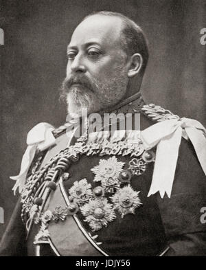 Edward VII, 1841 – 1910.  King of the United Kingdom and the British Dominions and Emperor of India.  From Hutchinson's - Stock Photo