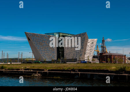 Titanic Quarter Queen's Island River Lagan Belfast - Stock Photo