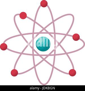 chemical symbol of atom science symbol - Stock Photo
