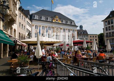 Europe, Germany, North Rhine-Westphalia, Bonn, market, old city hall, builds in 1737-1738, rococo facade,   , Europa, - Stock Photo