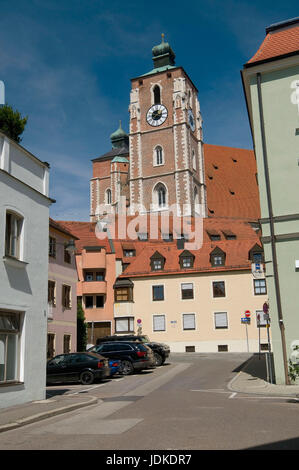 Europe, Germany, Bavaria, Ingolstadt, dear woman's cathedral, Late-Gothic dreischiffige hall church, 15./16. Cent. - Stock Photo