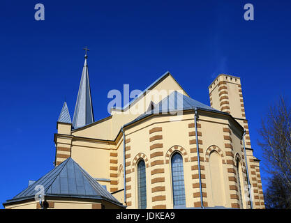 Lutheran cathedral with neo-gothic architectural elements Stock Photo