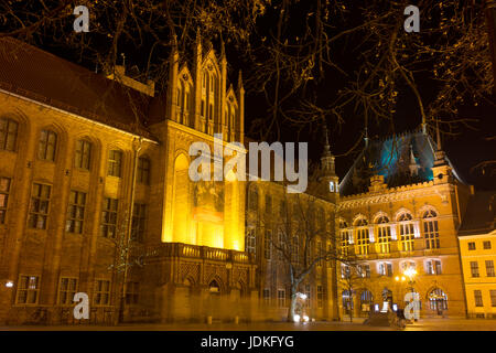 Torun's Old Town Hall in the Old Town Square in the centre of Torun's medieval Old Town. - Stock Photo