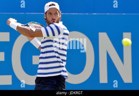 Aegon Tennis Championships Queens Club London, UK. 20th June, 2017. Feliciano Lopez ESP v Stan Warwrinka SUIi Lopez - Stock Photo