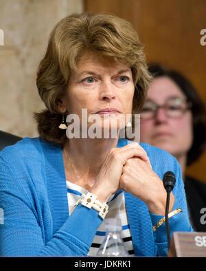 Washington, USA. 20th Jun, 2017. United States Senator Lisa Murkowski (Republican of Alaska) Chairman, US Senate - Stock Photo