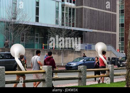 Cambridge, Massachusetts, USA. 24th Apr, 2017. Harvard University is a private Ivy League research university in - Stock Photo