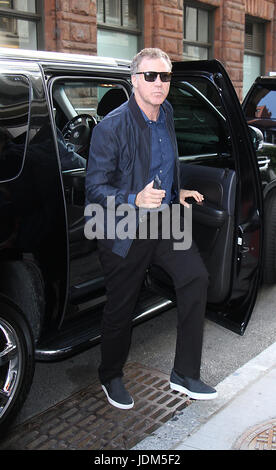 New York, New York, USA. 21st June, 2017. New York, USA. 21st Jun, 2017. Will Ferrell at AOL BUILD to talk about his new movie The House in New York June 21, 2017. Credit: MediaPunch Inc/Alamy Live News