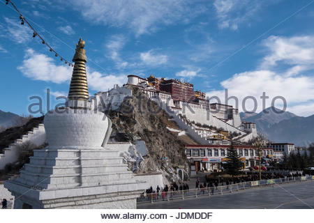 The Potala Palace in Lhasa. - Stock Photo