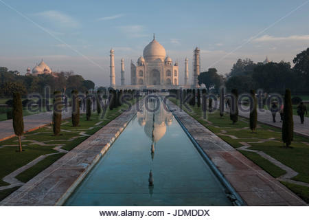 The Taj Mahal in Agra. - Stock Photo