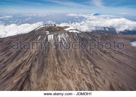 The peak of Mount Kilimanjaro. - Stock Photo