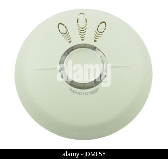 Smoke, fire detector on white background, isolated - Stock Photo