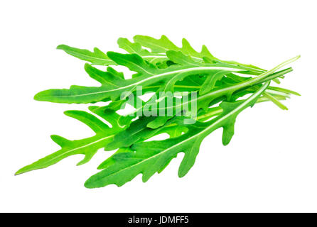 Rucola bunch isolated on white background. Green arugula heap - Stock Photo
