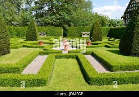 The Knot Garden at Little Moreton Hall, Cheshire. The Knot Garden ...