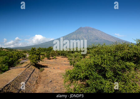 Mount Agung in Bali, Indonesia Near Ubud - Stock Photo