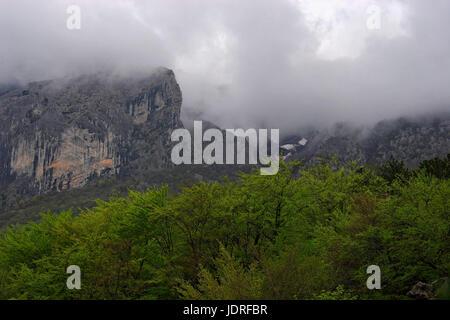 Rainy day on Paklenica National Park, Croatia - Stock Photo