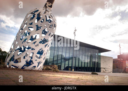 Bottle of Notes outside Middlesbrough Institute of Modern Art MIMA - Stock Photo