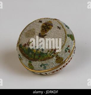 Watch case made by women of Saint Cyr.  Jean-François Pilâtre de Rozier and marquis d'Arlandes' first aerial voyage - Stock Photo