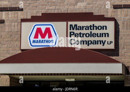 marathon gas pump stock photo, royalty free image