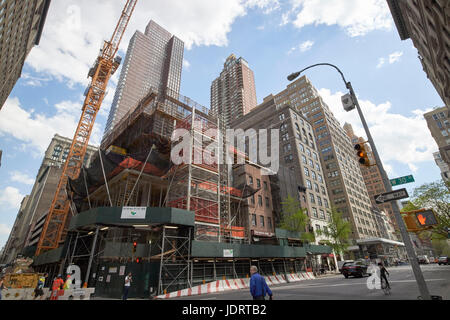 construction of new condominium residential building  281 5th avenue nomad New York City USA - Stock Photo