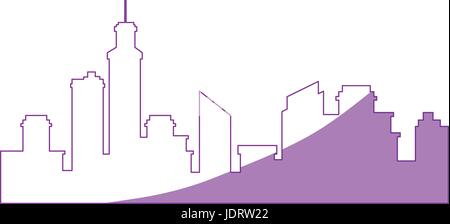 city view silhouette icon vector graphic illustration - Stock Photo