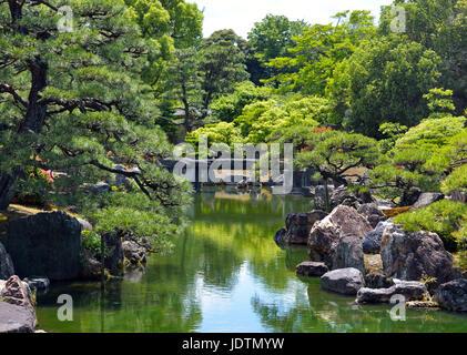 Ninomaru Garden, Nijo Castle, Kyoto, Japan - Stock Photo