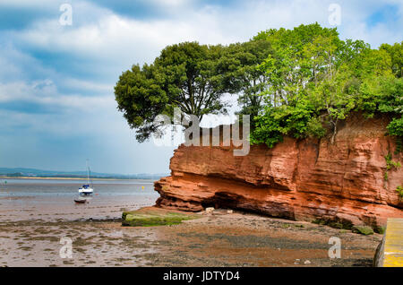 Darling's Rock, Lympstone, Devon. With the River Exe Estuary beyond. - Stock Photo