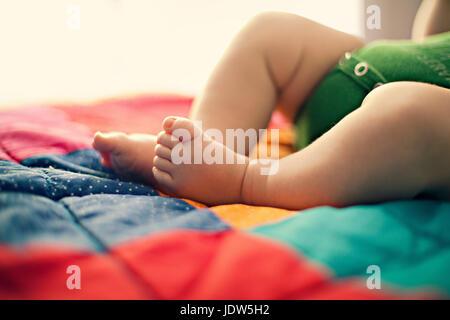 Baby's legs - Stock Photo