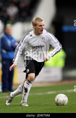 GARY TEALE DERBY COUNTY FC PRIDE PARK DERBY ENGLAND 26 January 2008 - Stock Photo