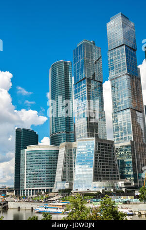 Modern business center buildings in Moscow city - Stock Photo