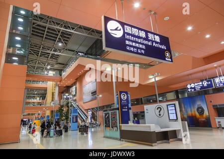 Kansai International Airport in Osaka, Japan - Stock Photo