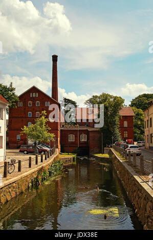 Alte Stadtmühle Hansestadt Wismar Deutschland / Old Mill Hanseatic City Wismar Germany - Stock Photo