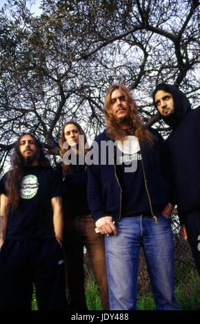 Portraits of the band Opeth, photographed in California on January 31, 2003.  © Anthony Pidgeon / MediaPunch.  NO - Stock Photo