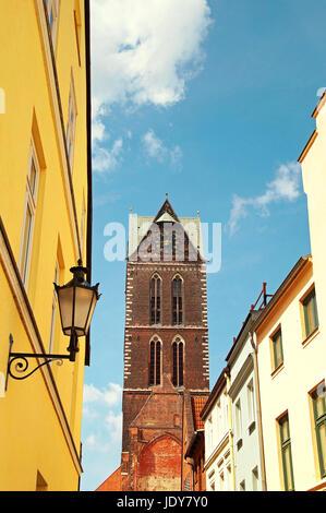 Marienkirche Wismar Deutschland / Church of St. Mary Wismar Germany - Stock Photo