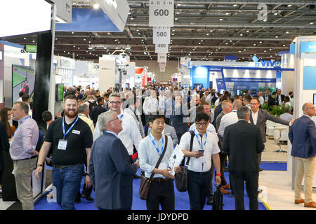 London, UK. 20th June, 2017. Grenfell Fire seminar at FIREX, Excel. - Stock Photo