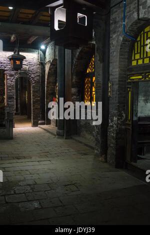 Cellar vaults, Xie Tong Qing Draft Bank Museum, Remittance Bank Museum, Pingyao, Shanxi province, China - Stock Photo
