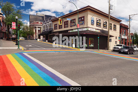 Commercial Street, Downtown Nanaimo, BC, Canada Stock
