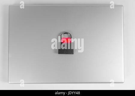 locked computer safe from virus or malware attack - Stock Photo
