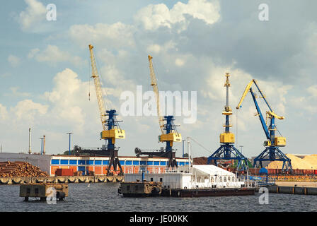 Hafen Hansestadt Wismar Deutschland / Port Hanseatic City Wismar Germany - Stock Photo