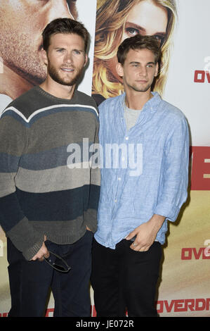 Berlin, Germany. 21st June, 2017. Scott Eastwood and Freddie Thorp attend the 'Overdrive' photocall at Hotel de - Stock Photo