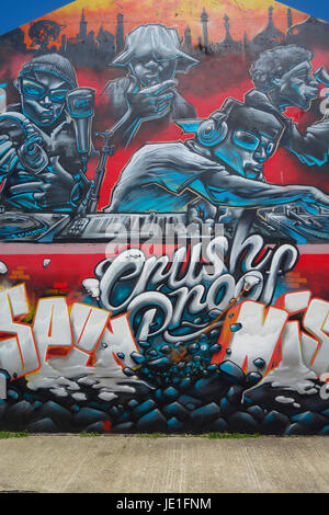 Graffiti Street Art in Brighton Stock Photo