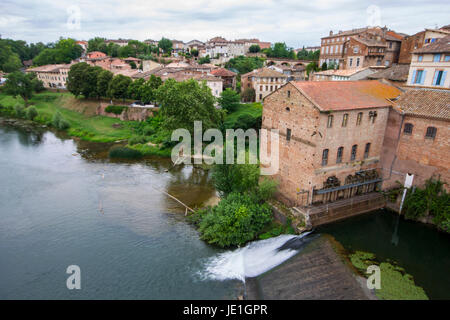 Gaillac, a historical French town on the river Tarn 25 km west of Albi - Stock Photo
