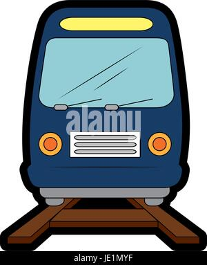 isolated train transport - Stock Photo