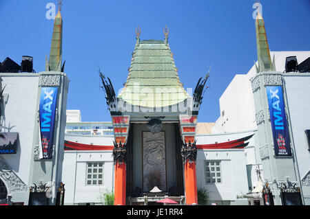 May 21, 2017.  Los Angeles, California. The landmark iconic TCL Chinese theater exterior in Hollywood area of los - Stock Photo