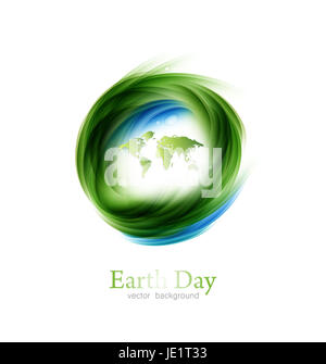 Save The Planet Earth Day  Environment Green World  Map  Background Design Element - Stock Photo
