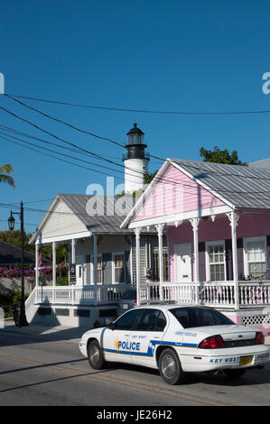 Police car in Key West, Florida, USA - Stock Photo