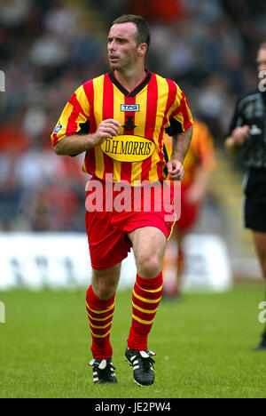 ALEX BURNS PARTICK THISTLE FC FIRHILL GLASGOW SCOTLAND 03 August 2002 - Stock Photo
