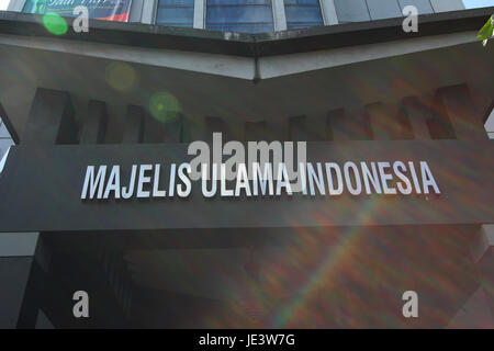 Jakarta, Indonesia. 07th Aug, 2014. The Indonesian Ulama Council (abbreviated as MUI) is an institution that accommodates - Stock Photo