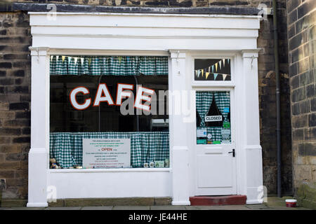 Sid's Cafe as featured in the TV series Last of the Summer Wine, Holmfirth - Stock Photo