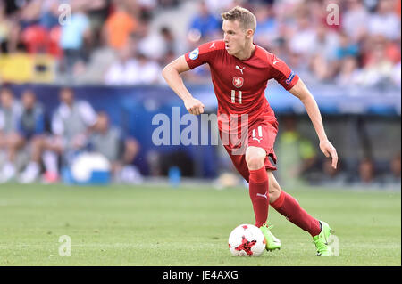 Jakub Jankto during the UEFA European Under-21 match between Czech Republic and Italy on June 21, 2017 in Tychy, - Stock Photo